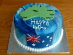 Australia Map 40th Birthday Cake by Rebeckington