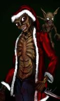 Zombie Santa and Helper by Rene-L