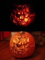 Snake Pumpkin by mrbob0822