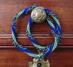 Peacock twist necklace by SBeadHeaven