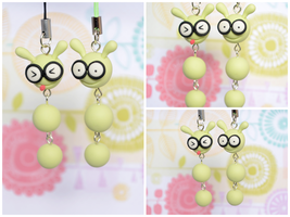 Polymer Clay Phone Charms by TheLinnypig