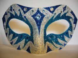 Ice ~ Masquerade Mask by SapphireSoul102