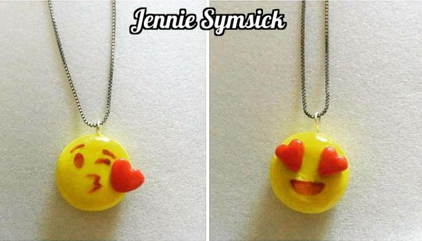 Emoji Charm Necklaces! (FOR SALE!) by emokitten687