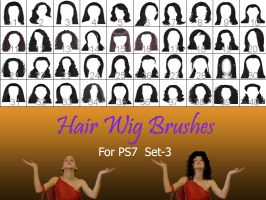 Hair_Wigs_Brushes_SET_3 by intenseone345