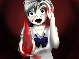 Crying Anime Girl With Knife Base By Dtoksick-d4u3 by mame-lyssa