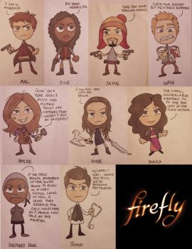 Firefly Characters by aerettberg