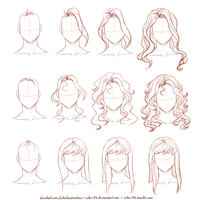How I draw long hair by Nike-93