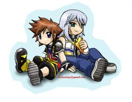 Sora and Riku cutenessez by belafantasy