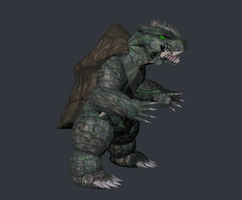 Gamera 3d fixed by Kyotita