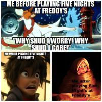 Playing Five Nights at Freddy's by ohmygoskjackfrost