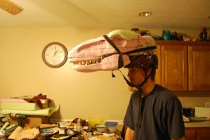 Velociraptor Costume Head by neonrelics