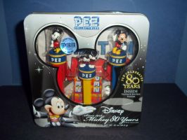 Pez dispensers: mickey mouses by Scarletmarie16