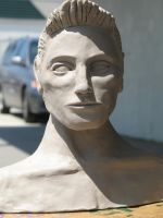 Trystan bust_unfired_ by Nthanda827