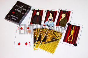 Phantom of the Opera playing cards!!! by emmasnap