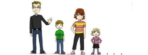 Cartoony Family by beamer