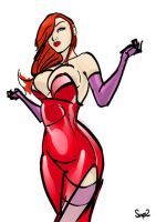 Jessica Rabbit -WIP- by Sno2