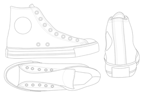 CONVERSE All Star template by katus-nemcu
