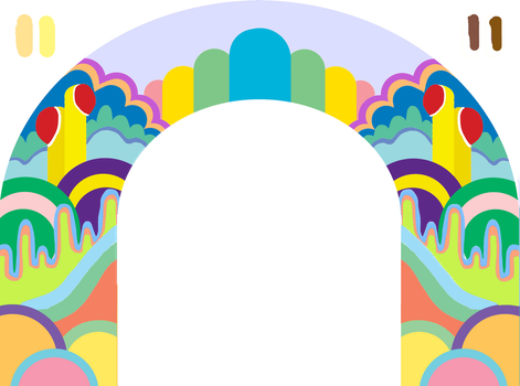 Psychedelic Archway by KikenCat