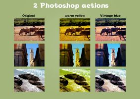 2 Photoshop actions by cosboom