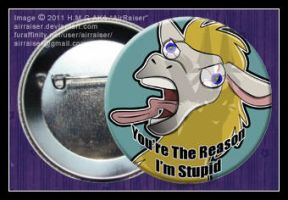 Your The Reason I'm Stupid Button by AirRaiser