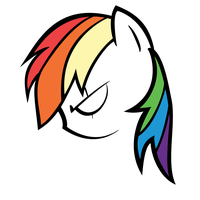 Angry Rainbow Dash Contour by QQwich