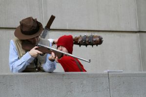 TF2 - Blue Sniper and Red Scout by BrianFloresPhoto