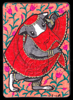 Bellydancing Piggie ACEO 25 by Siobhan68