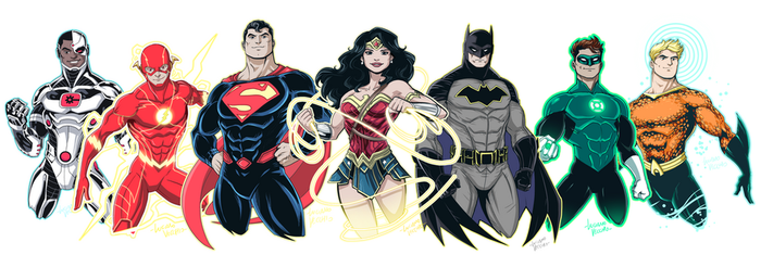 Justice League - Big 7 by LucianoVecchio
