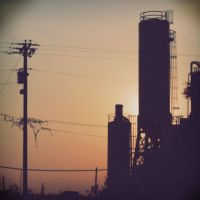 Factory Sunset - Holga by whothennow24