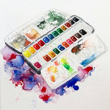 My messy palette by booksdust