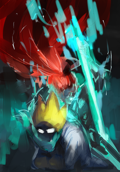 Rough sketch: Undyne and Dr Alphys by Uiya-namie