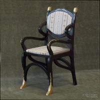 Napoleonic armchair for SD BJD by scargeear