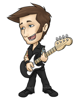 Mike Dirnt's 39th - colored by kelly42fox