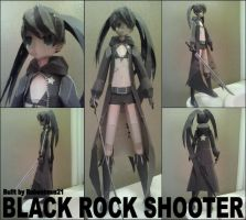 Black Rock Shooter Papercraft Finished by rubenimus21