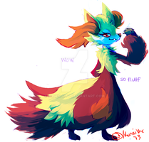 Delphox by boner-city