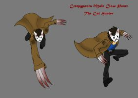 Creepypasta male pose (Claw): The Cat Hunter by darkangel6021