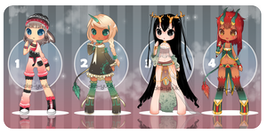 [Auction] Female set. [CLOSED] by Aka-Yuuki