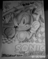 classic sonic the hedgehog by MrBigTheArtist