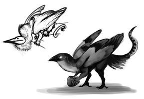 Bipedal gryphons by umbbe