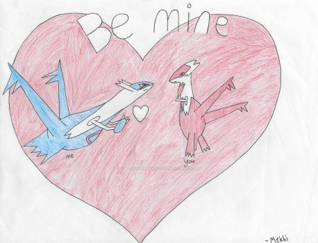 Latias and Latios valentines day card by THExWHITExFANGx