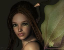 Twig Fairy Portrait by fairyfreakster