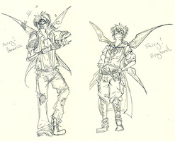 Fairy!England and Fairy!America design by edwardsuoh13
