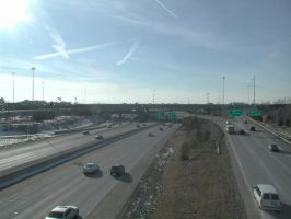 I-670 Westbound at Exit 5 by vidthekid