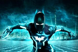 Batman in Tron by IGMAN51