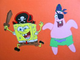 Spongebob as a Pirate by linus108Nicole