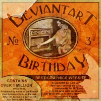Deviant Art Third Birthday Sub by stix4life