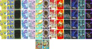 My Little Pony playing cards: villans by domatophobia