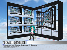 MMD Accessory - Video Walls by Trackdancer