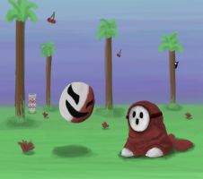 Phanto and Shy Guy  -Mario 2- by Dragonfly929