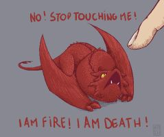 Smaug - Stop touching me ! by Kin-Sei